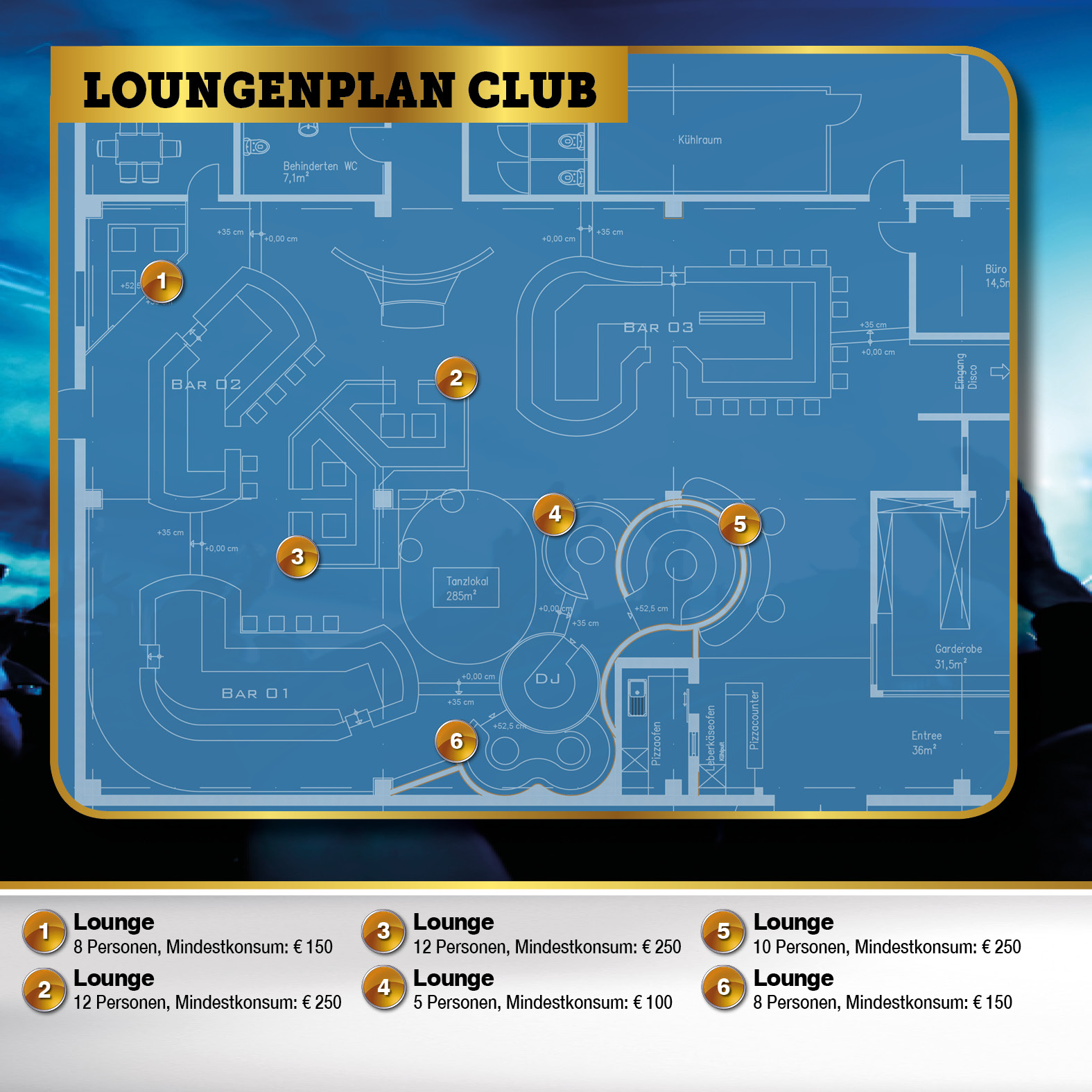 Loungenplan Lounge